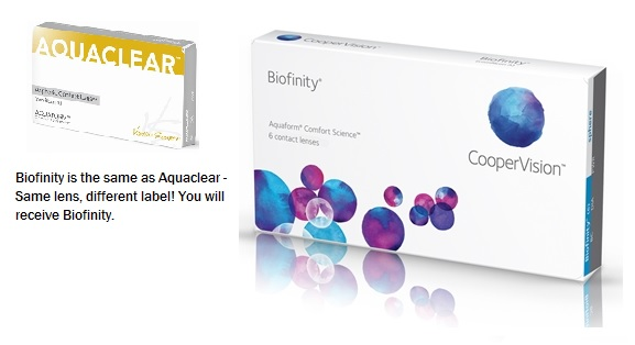 Biofinity (Same as AquaClear)